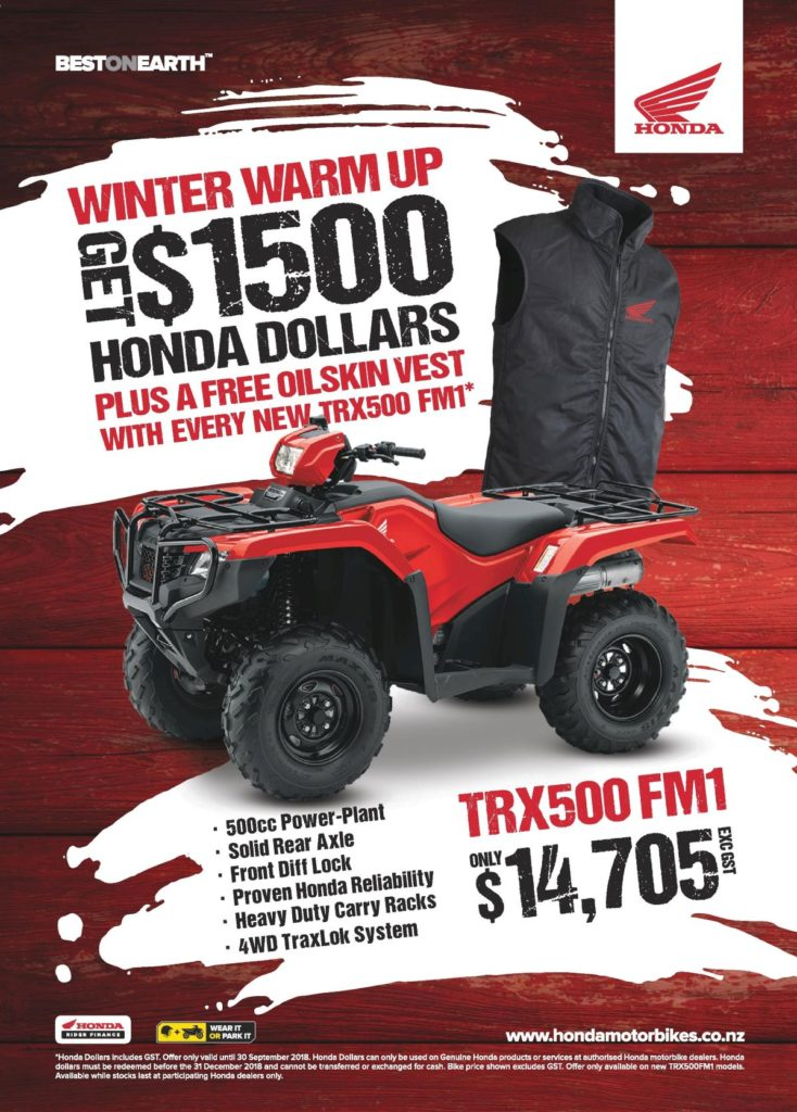 TRX500FM1 WINTER WARM UP – ENDING SOON!